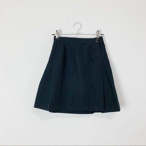 Vintage 1990s black pleated mini skirt XXS